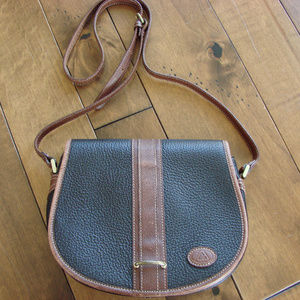 Vintage Leather Crossbody Saddlebag Purse